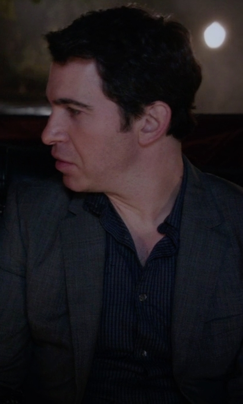 Chris Messina with Armani Collezioni Stripe Dress Shirt in The Mindy Project
