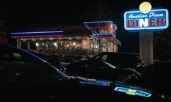 Unknown Actor with American Dream Diner Orangeburg, New York in Billions