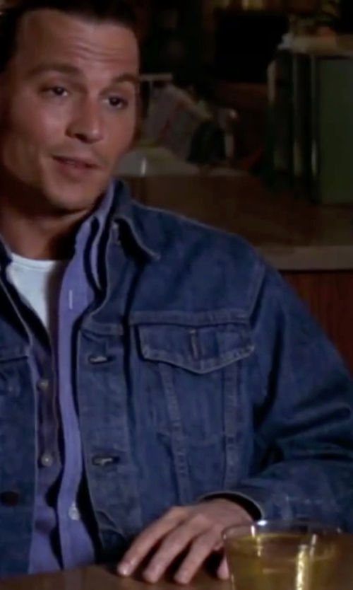 Johnny Depp with Levi's The Trucker Jacket in Blow
