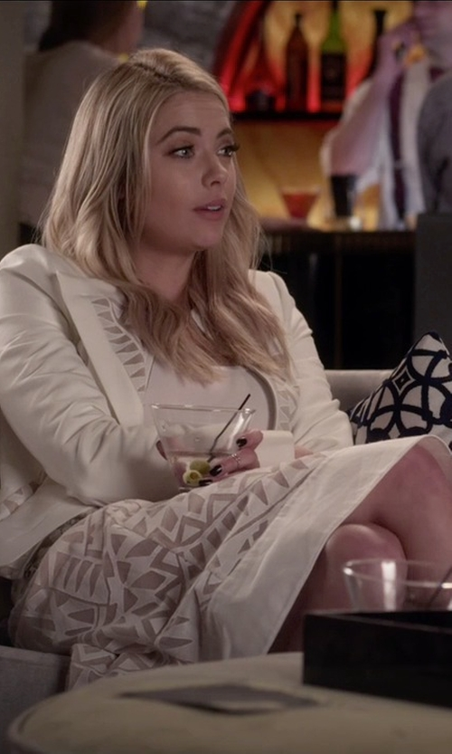 Ashley Benson with BCBGMAXAZRIA Keary Burnout Lace Skirt in Pretty Little Liars
