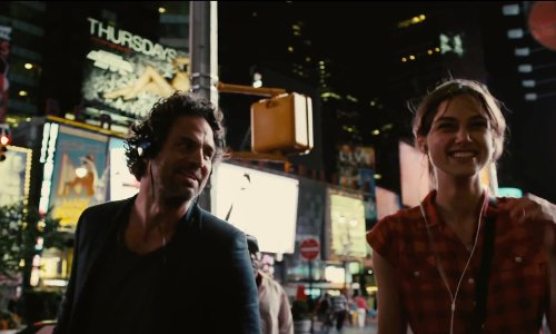 Mark Ruffalo with Times Square New York City, New York in Begin Again