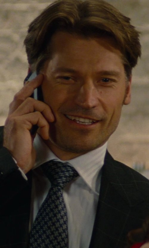 Nikolaj Coster-Waldau with Apple iPhone 5s in The Other Woman