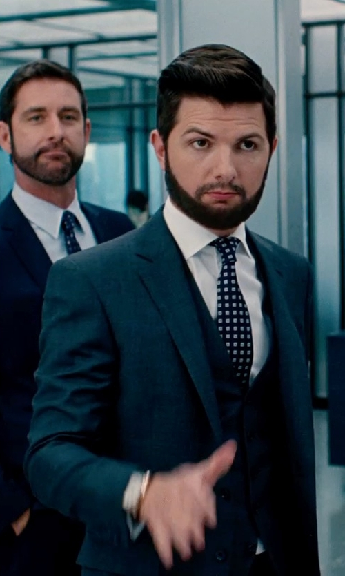 Adam Scott with Gianfranco Ferre Vintage Patterned Tie in The Secret Life of Walter Mitty