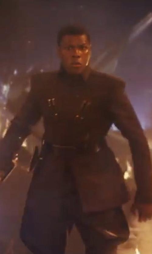 John Boyega with Michael Kaplan (Costume Designer) Finn's First Order Costume in Star Wars: The Last Jedi
