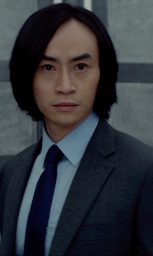 Tiger Hu Chen with Canali Grey Super 130S Wool Suit in Man of Tai Chi