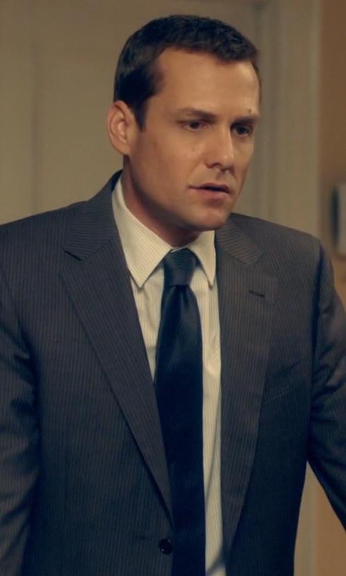 Gabriel Macht with Ralph Lauren Solid Satin Tie in Suits