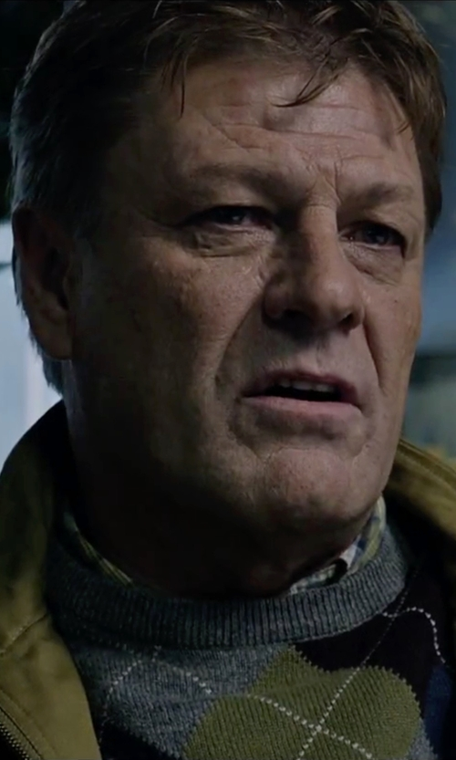 Sean Bean with Gieves & Hawkes Checked Cotton Shirt in The Martian