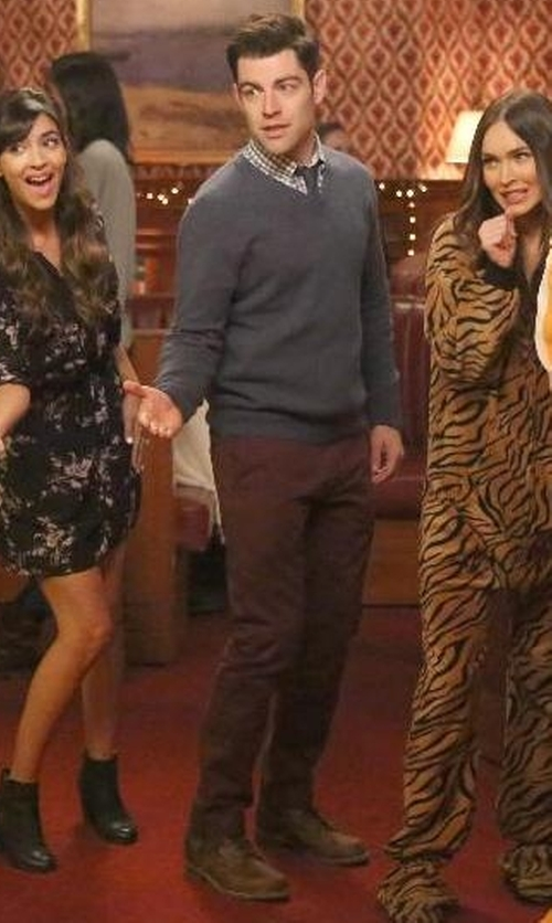 Max Greenfield with Dunham REVdusk Shoes in New Girl
