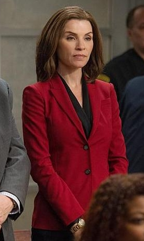 Julianna Margulies with Dolce & Gabbana Classic Fitted Blazer in The Good Wife