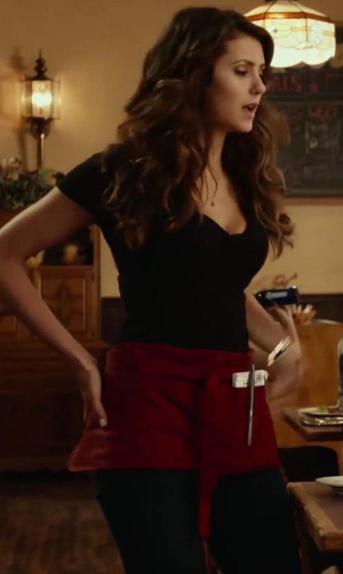 Nina Dobrev with Getting Back To Square One Zip Leggings in Let's Be Cops