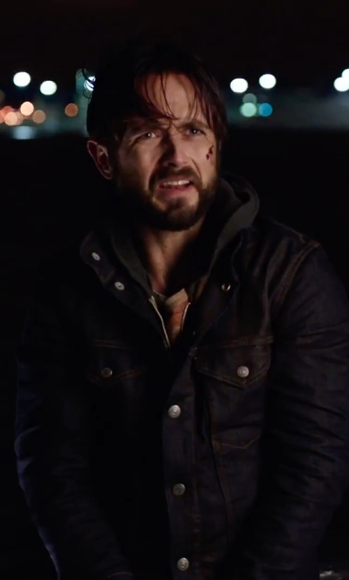 Justin Chatwin with BLK DNM Denim Jacket in Urge