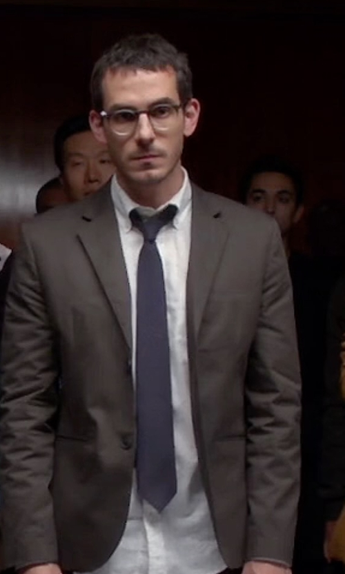 Tate Ellington with Saks Fifth Avenue Collection Solid Silk Tie in Quantico