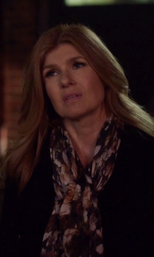 Connie Britton with Ted Baker Bloom Long Scarf in Nashville