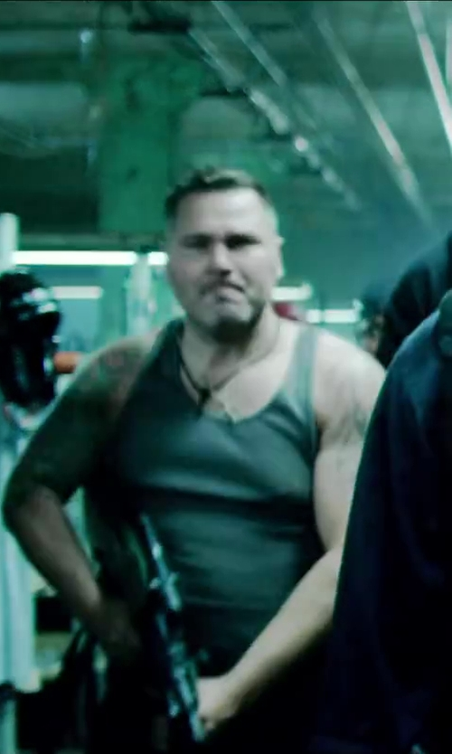 Unknown Actor with INC International Concepts Greese Monkey Tank in Brick Mansions