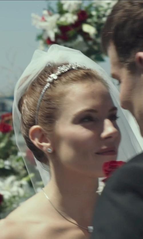 Sienna Miller with Nina 'Michaela' Swarovski Crystal Headband in American Sniper