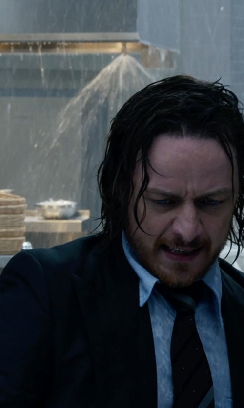 James McAvoy with Hugo Boss 'Huge/Genius' | Slim Fit, Stretch Virgin Wool Suit in X-Men: Days of Future Past
