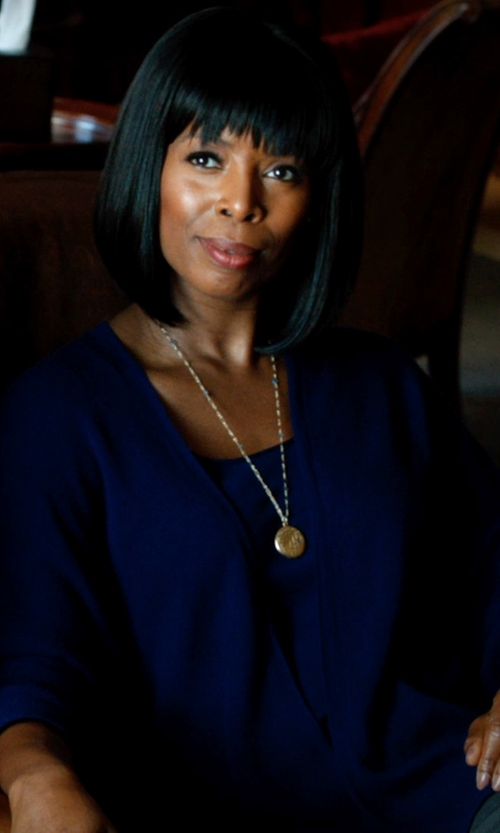Tasha Smith with And B Long Sleeve Blouse in Addicted