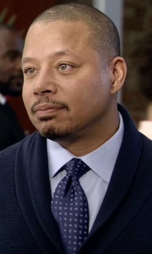 Terrence Howard  with Massimo Bizzocchi Paisley Tie in Empire