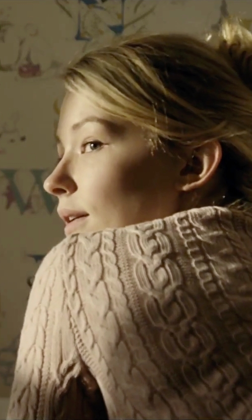 Haley Bennett with Denim & Supply Ralph Lauren Cable-Knit Crewneck Sweater in The Girl on the Train