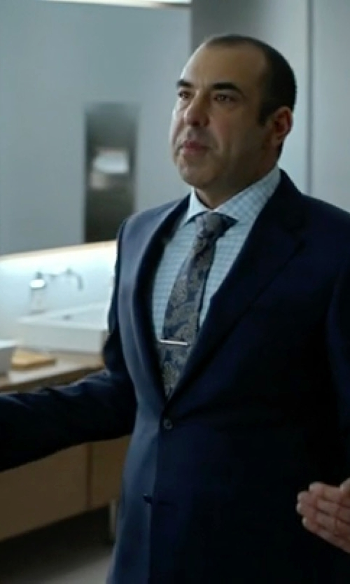 Rick Hoffman with Ermenegildo Zegna Milano Easy Wool Herringbone Suit in Suits