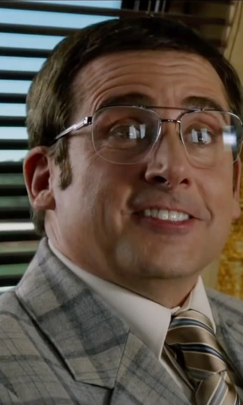 Steve Carell with Etro Check Blazer in Anchorman 2: The Legend Continues