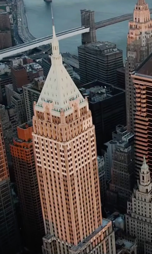 Unknown Actor with The Trump Building New York City, New York in The Big Short