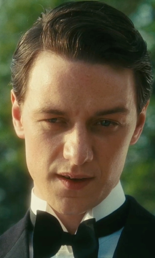 James McAvoy with DSquared2 Silk Grosgrain Bow Tie in Atonement