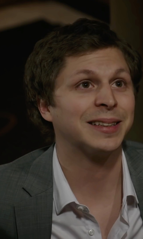 Michael Cera with Hilton Club Bryce Suit Separate Jacket in A Very Murray Christmas