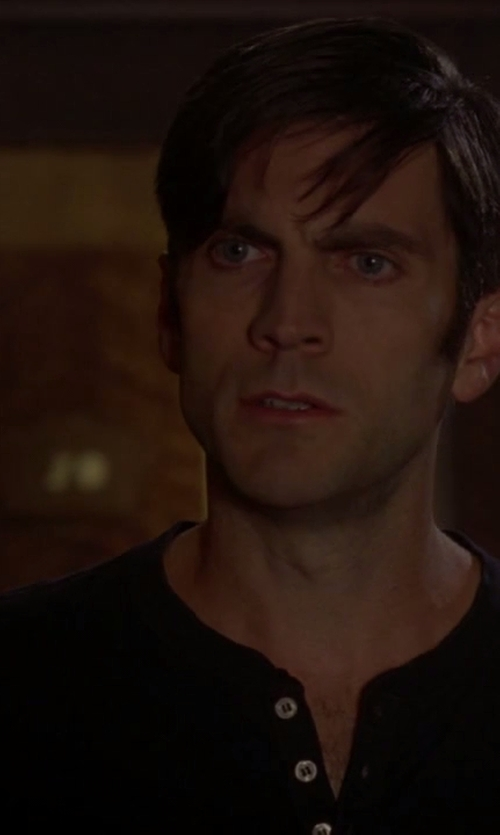 Wes Bentley with Ralph Lauren Pima Long-Sleeved Henley in American Horror Story