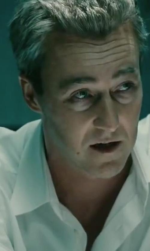 Edward Norton with Saks Fifth Avenue Collection Regular-Fit Dress Shirt in The Bourne Legacy