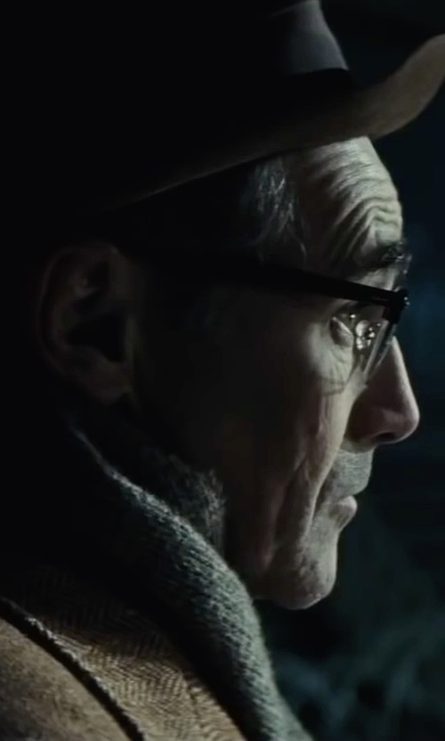 Mark Rylance with Acne Studios 'Canada' Fringed Scarf in Bridge of Spies