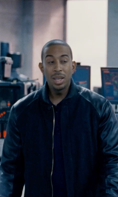 Ludacris with A.P.C. 'Kenickie' contrast bomber jacket in Fast & Furious 6