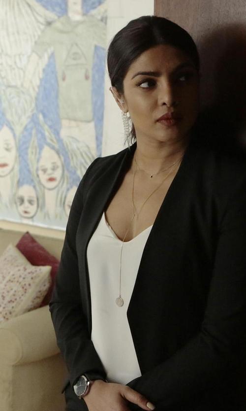 Priyanka Chopra with Tsovet SVT-SC38 Leather Strap Watch in Quantico