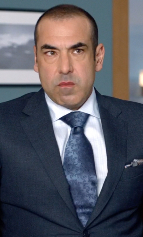 Rick Hoffman with Brooks Brothers Large Paisley Tie in Suits