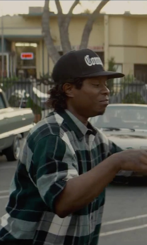 Jason Mitchell with ASOS Short Sleeve Plaid Shirt in Straight Outta Compton