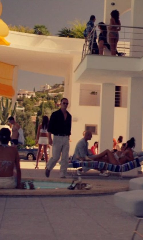Michael Fassbender with Tod's Gommino Penny Drivers Shoes in The Counselor