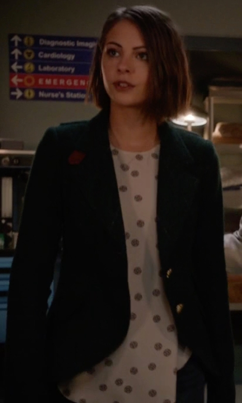 Willa Holland with Smythe Wool Blend Hunting Jacket in Arrow