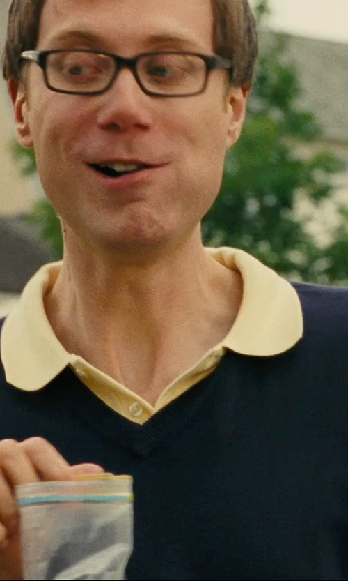 Stephen Merchant with Peter Millar Merino Wool Sweater Vest, Navy in Hall Pass