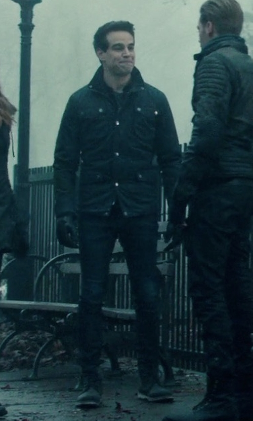 Alberto Rosende with Dr. Martens Newton 8 Eye Boots in Shadowhunters