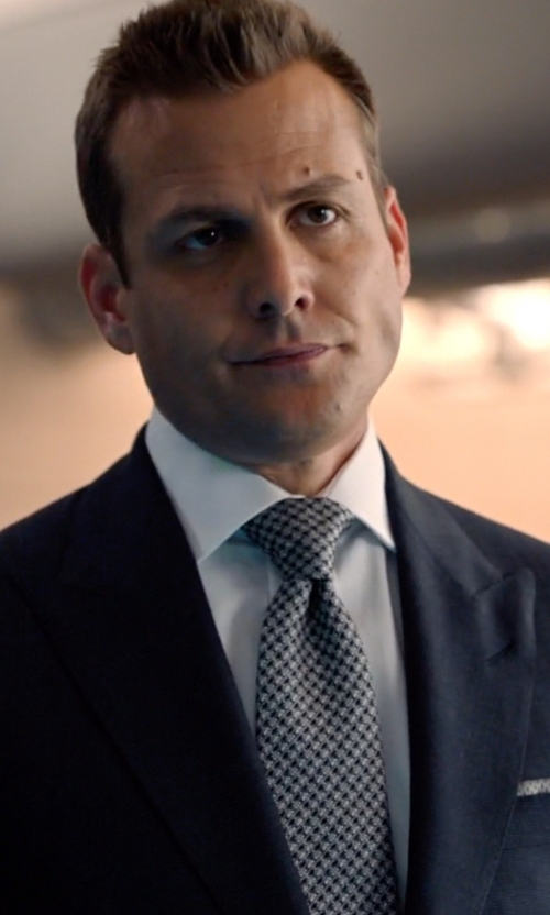 Gabriel Macht with The Kooples Houndstooth Silk Jacquard Tie in Suits