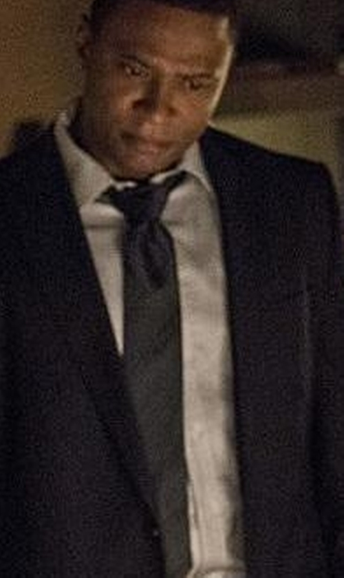 David Ramsey with Armani Collezioni Diagonal Stripe Silk Tie in Arrow