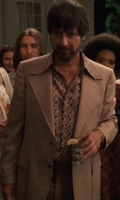Ray Romano with Dries Van Noten Single Breasted Suit in Vinyl