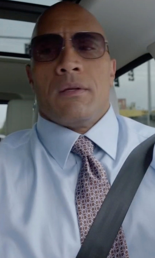 Dwayne Johnson with Versace Button-Front Solid Dress Shirt in Ballers