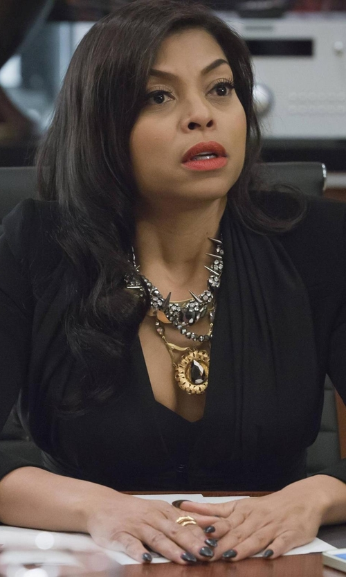Taraji P. Henson with Vauje Jewelry Necklace As Seen on Empire in Empire