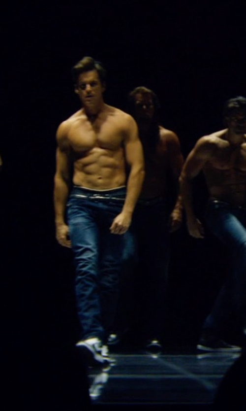 Matt Bomer with G-Star Faded Wash Straight-Leg Jeans in Magic Mike XXL