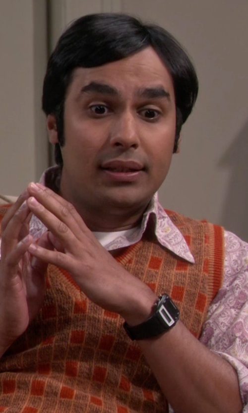 Kunal Nayyar with Casio Men's Illuminator Resin Strap Digital Watch in The Big Bang Theory