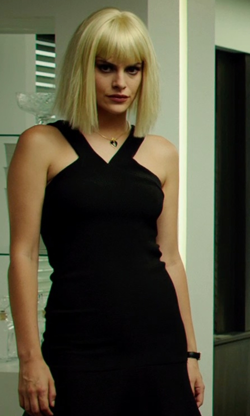Tatiana Pajkovic with Tory Burch Watches Leather-Strap Golden Watch in The Transporter: Refueled