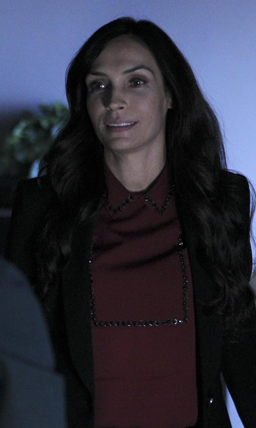 Famke Janssen with P.A.R.O.S.H. Classic Collar Top in How To Get Away With Murder