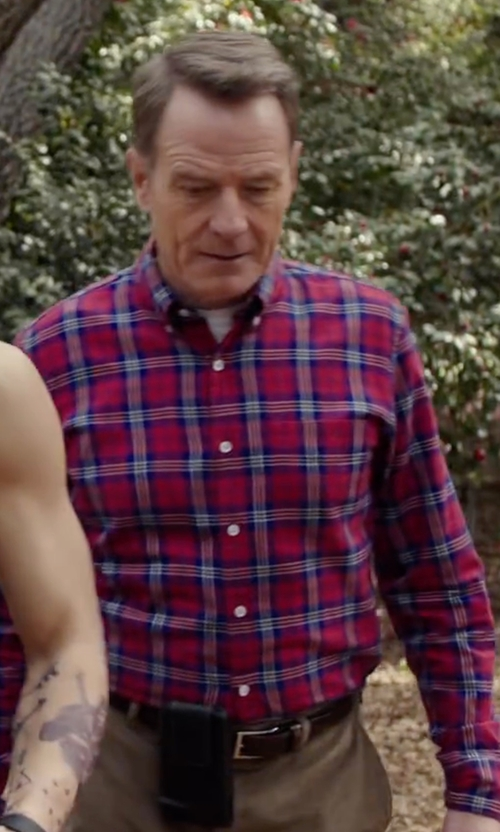 Bryan Cranston with Polo Ralph Lauren Edge-Stitched Leather Belt in Why Him?