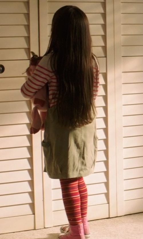 Kennedi Clements with Country Kids Crochet Flower Tights in Poltergeist
